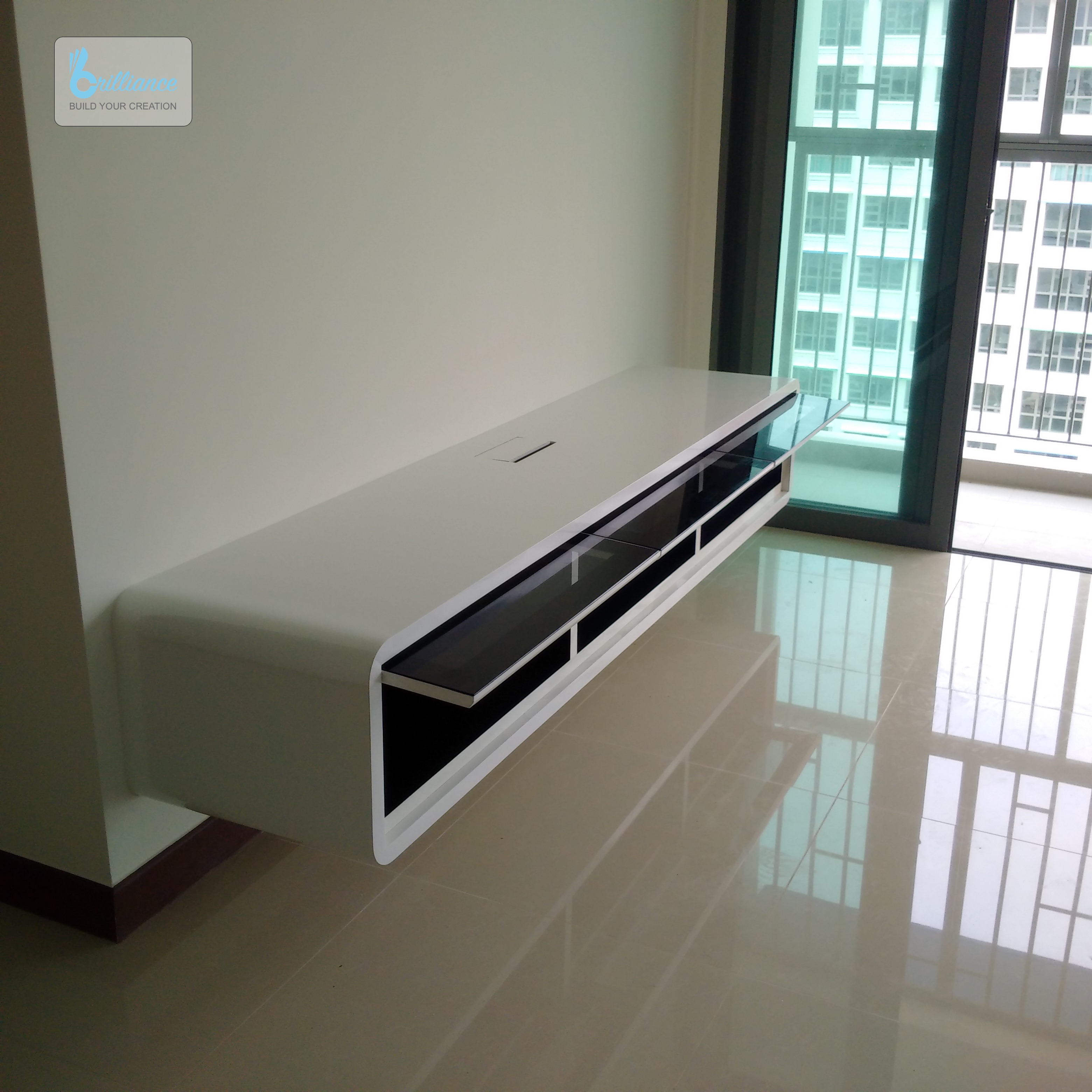 BTO Renovation - Punggol Drive - Brilliance Renovation - TV console view