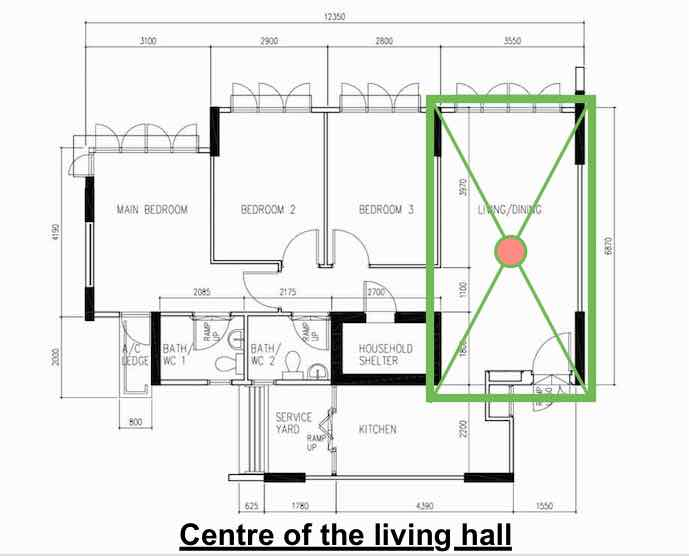 center of living hall - by brilliance Renovation