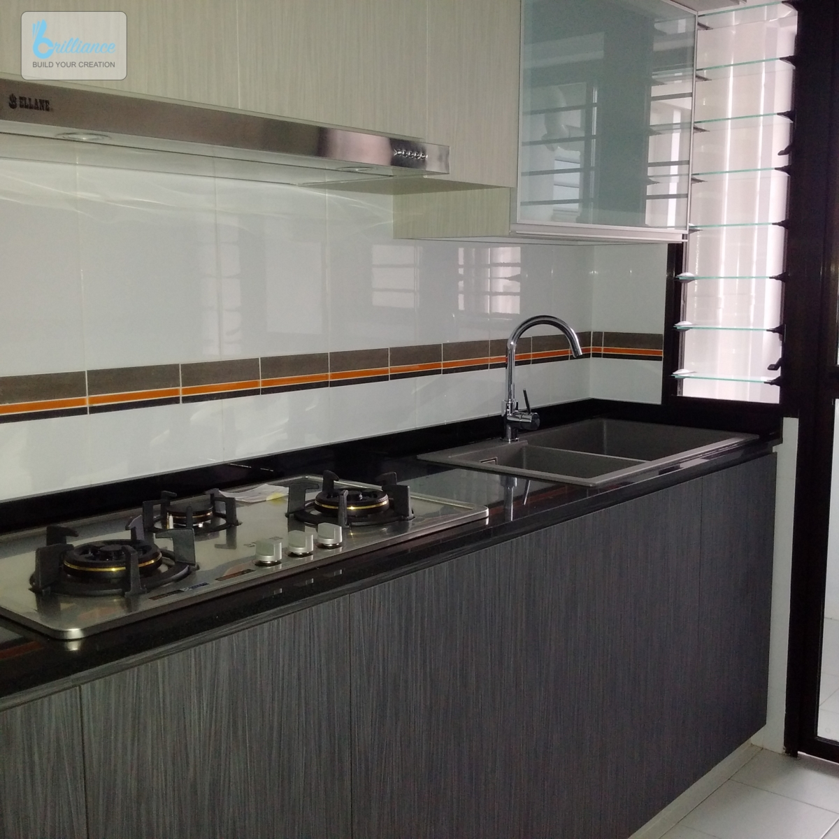 BTO Renovation by brilliance- Segar Road - kitchen view