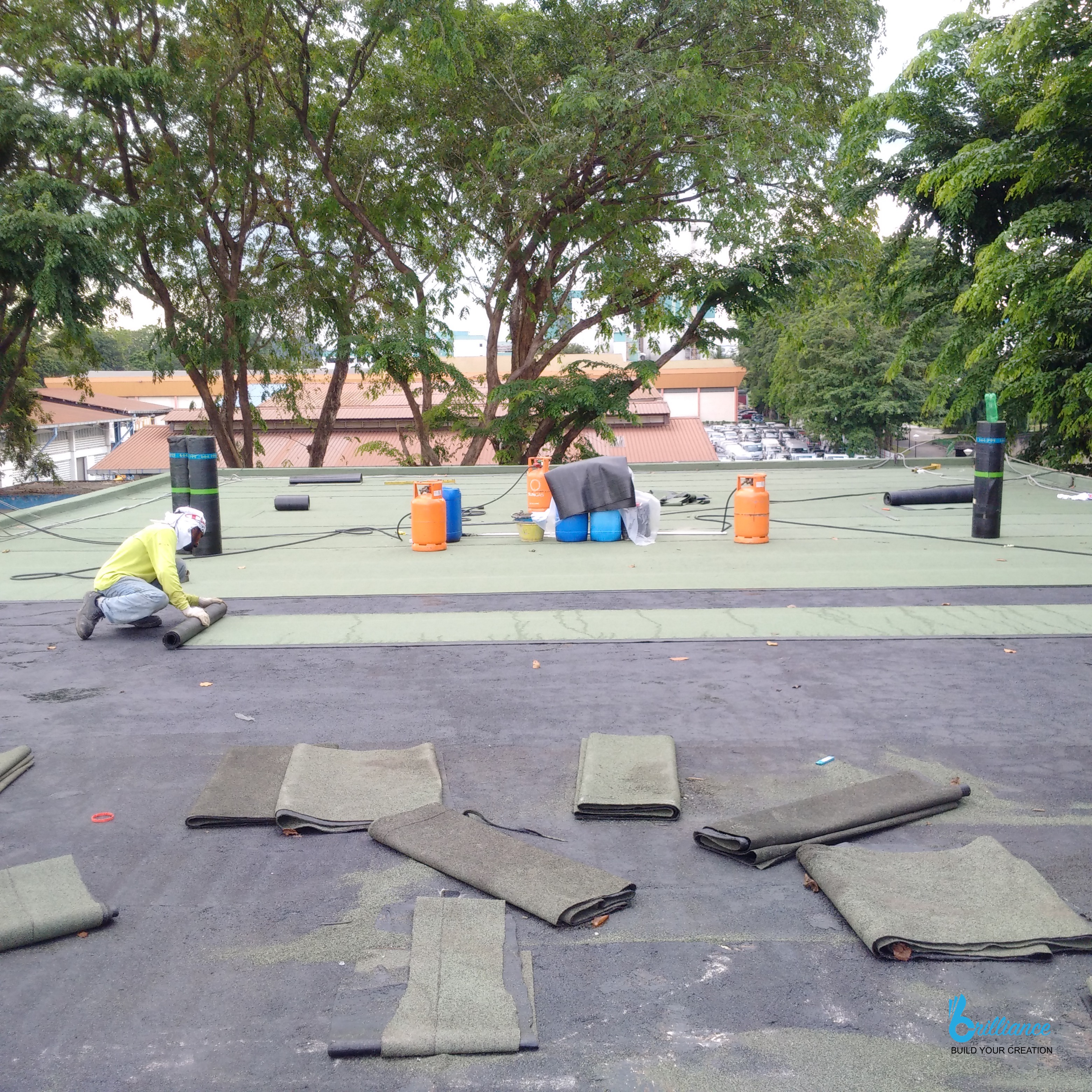 Factory roof waterproofing Khong Guan by Brilliance -2