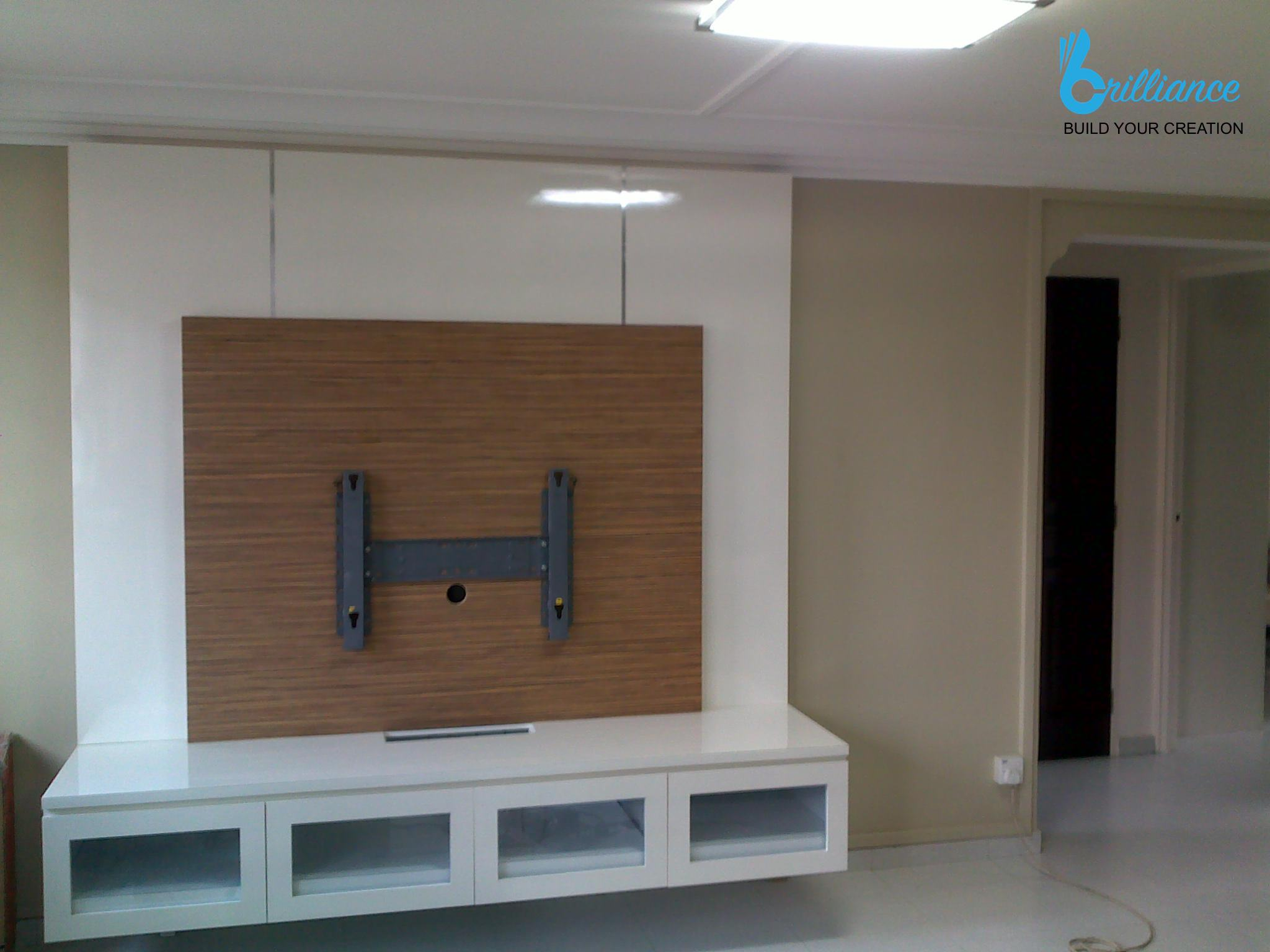 HDB renovation Ubi Ave 1 by Brilliance - TV console
