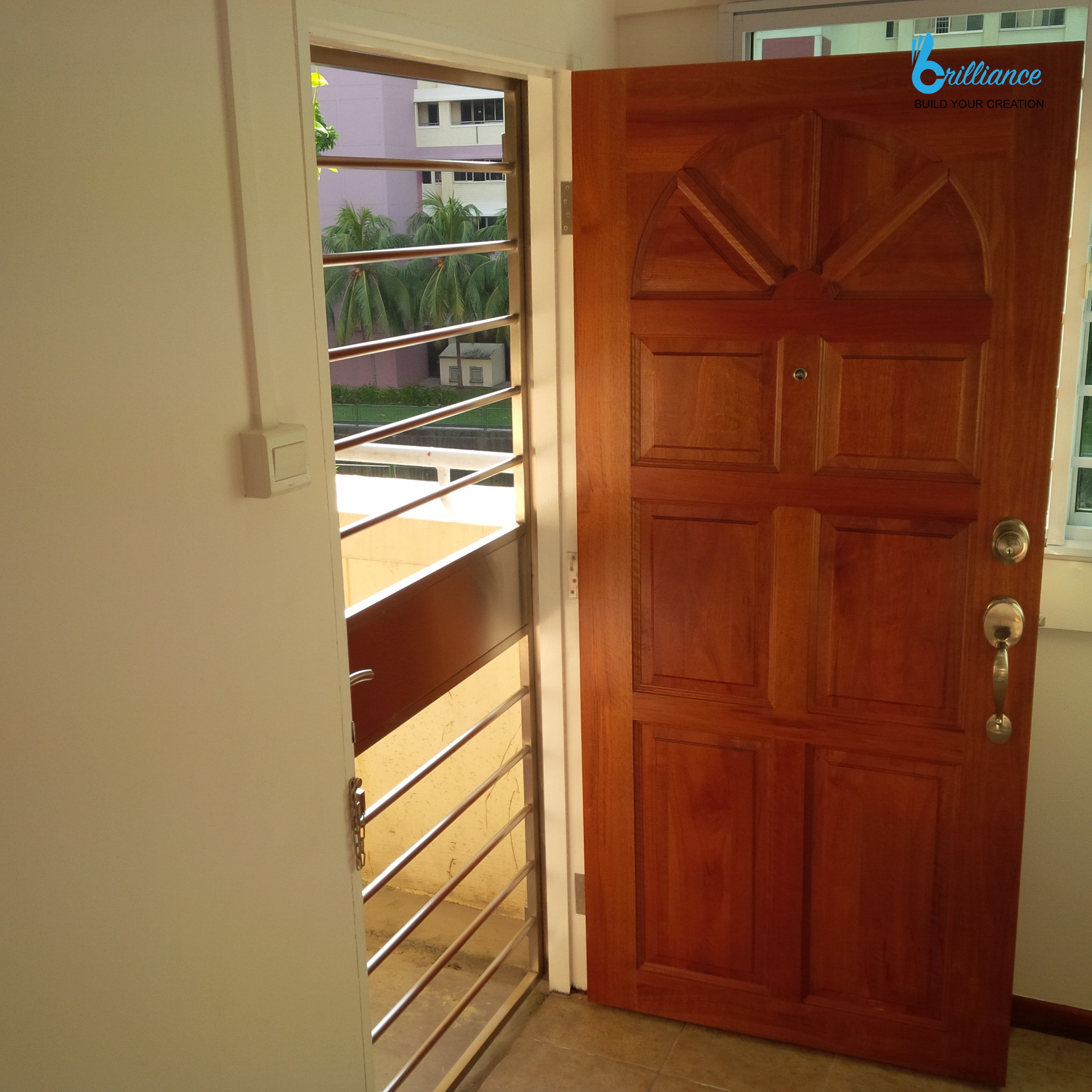 HDB renovation at Hougang ave 10 - door