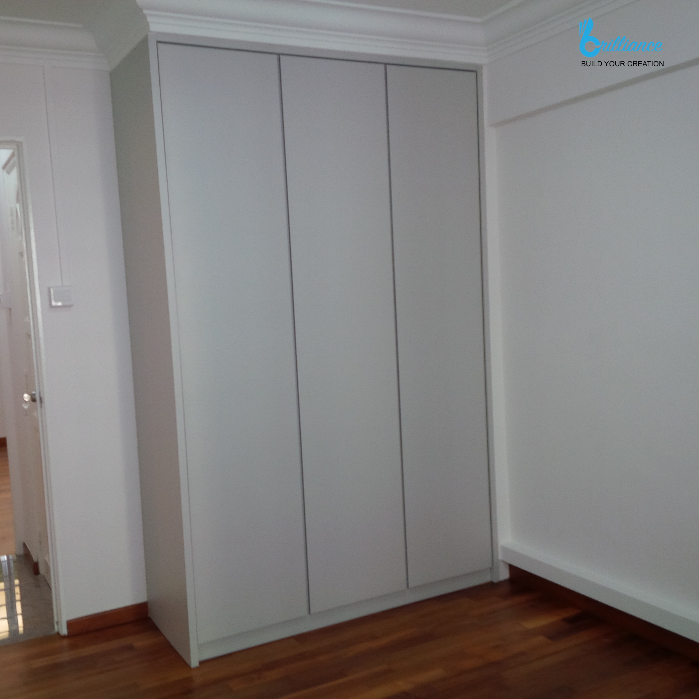 HDB renovation at Hougang ave 10 - wardrobe