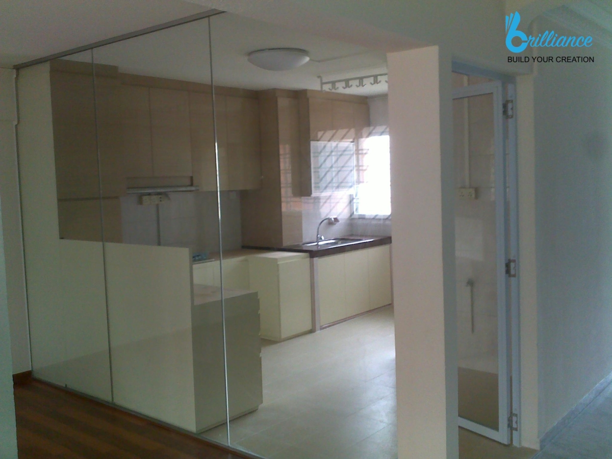 HDB renovation at Ubi Ave 2 by Brilliance -kitchen
