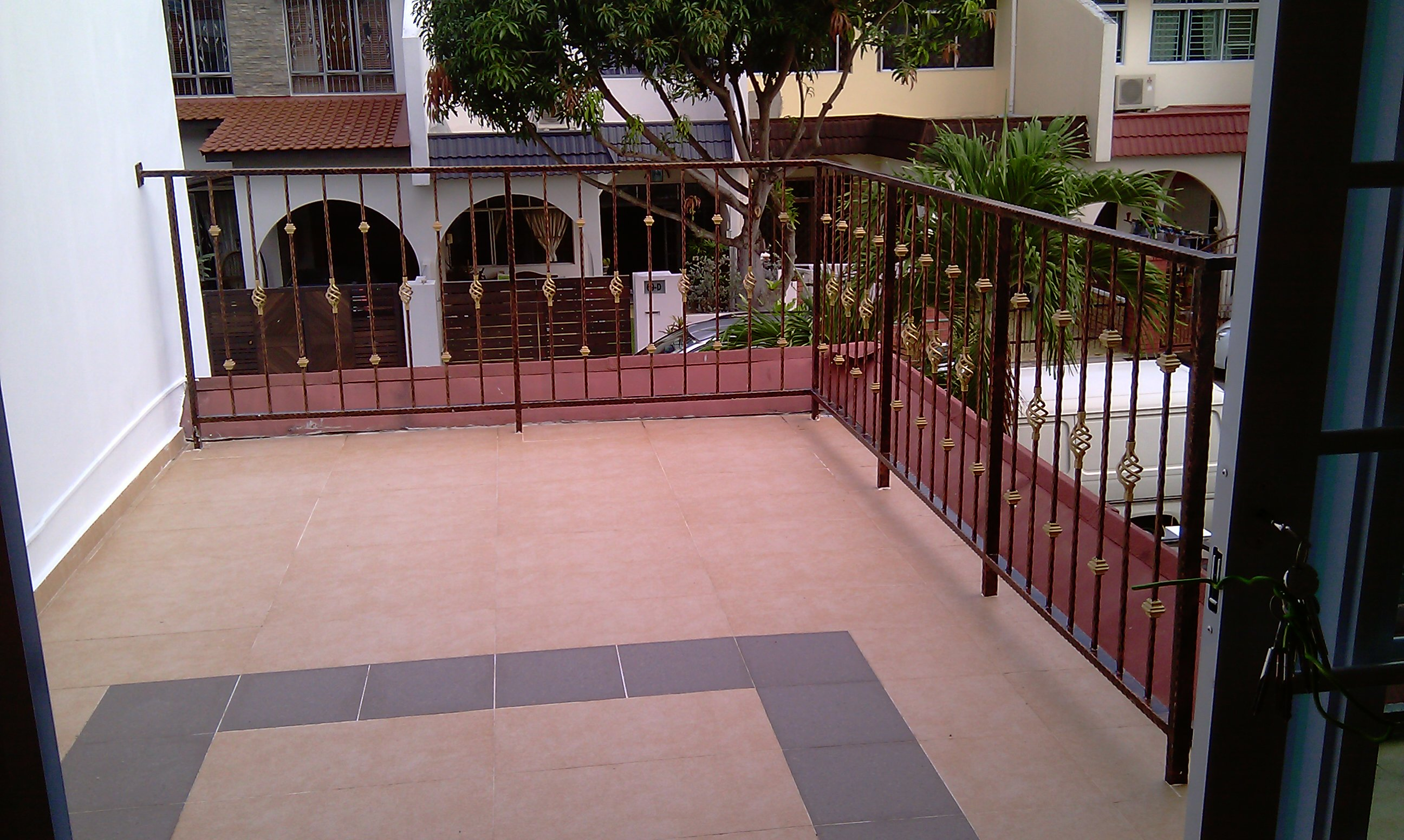 Landed Property Renovaton at Lorong Melayu by Brilliance - balcony