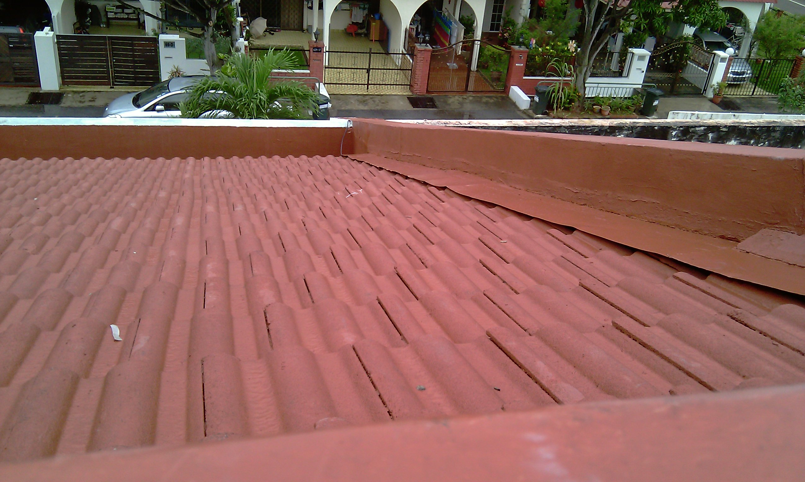 Landed Property Renovaton at Lorong Melayu by Brilliance - roof