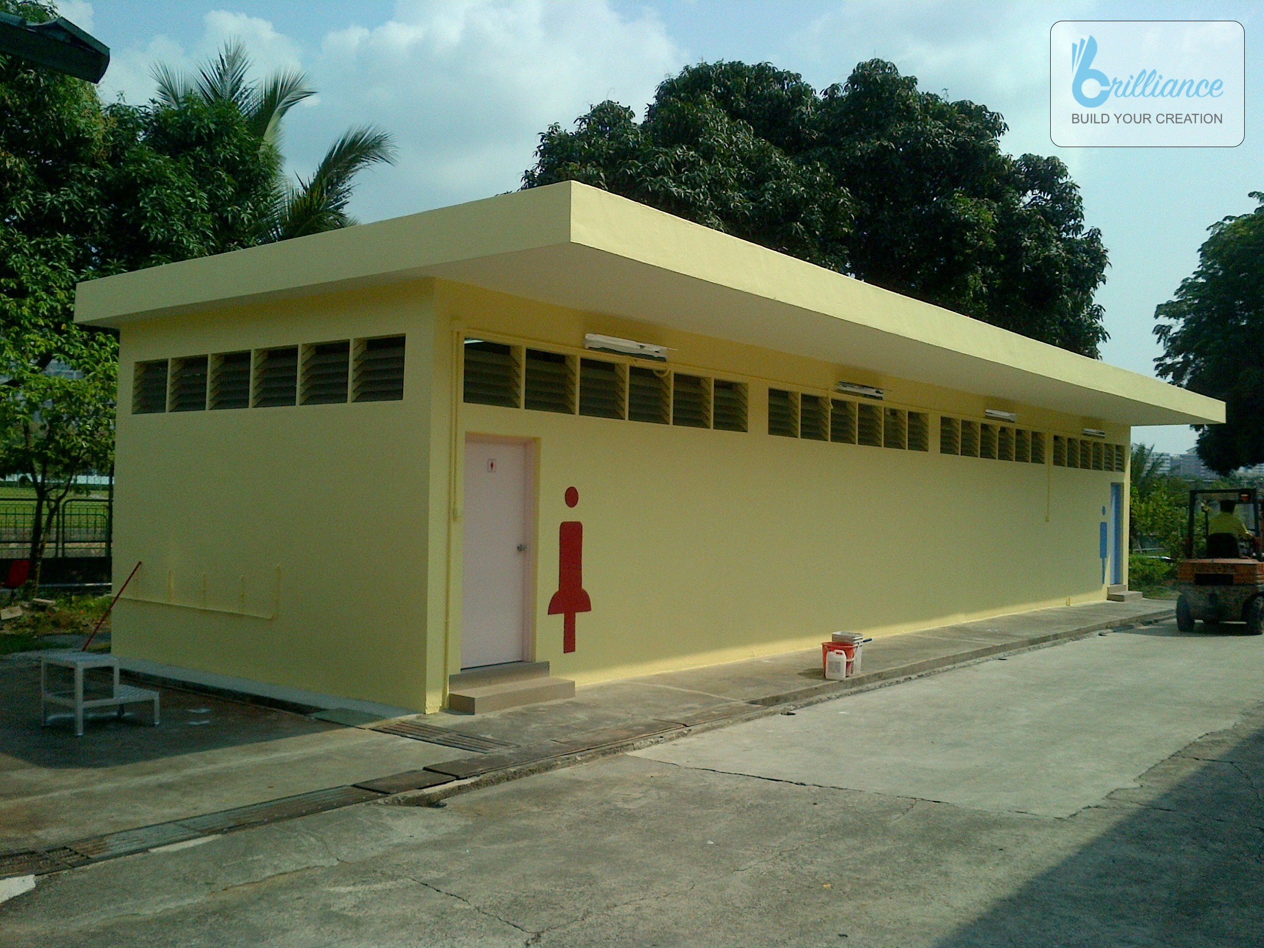 facilities facelift by Brilliance - exterior